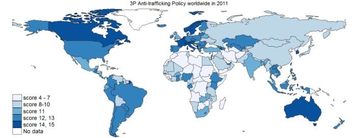 Economics of Trafficking, 3P Anti-trafficking Policy Index on trading map, unemployment map, terrorism map, manufacturing map, gender map, media map, conspiracy map, delivery map, housing map, security map, refugees map, processing map, black slave map, failed states map, domestic violence map, adoption map, conflict map, immigration map, transport map,